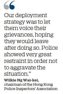 Police groups decry violent protests
