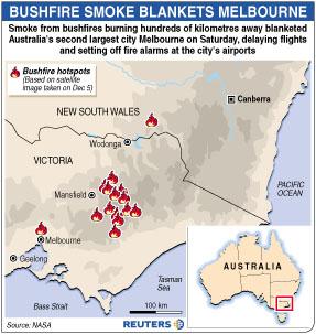 澳大利亚遭遇70年最大森林火灾新西兰增援