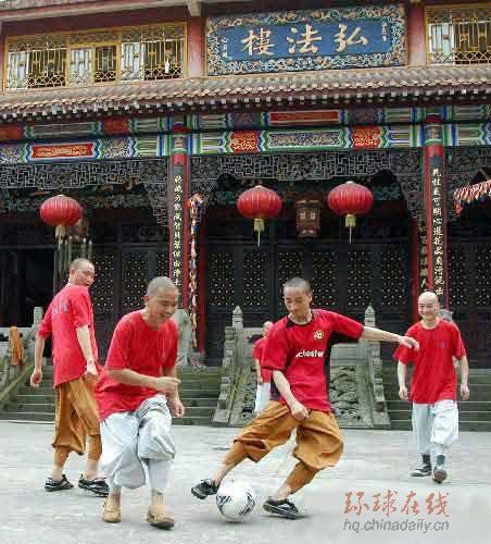 寺庙也热世界杯 重庆佛学院有支足球队