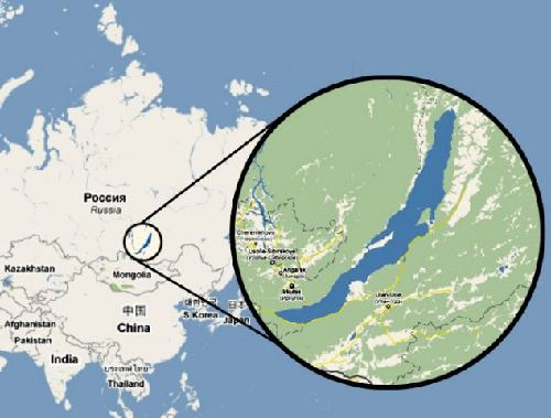 美艺术家贝加尔湖创作世界最大图画 面积32平方公里