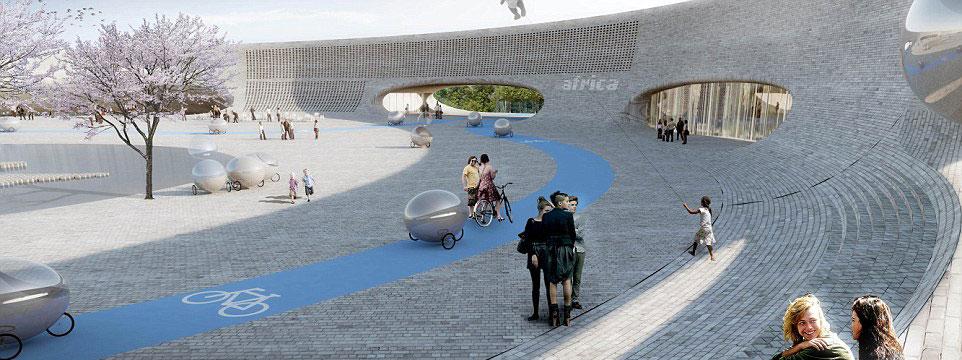 丹麦设计概念动物园:人类藏身镜面舱 动物无需被骚扰