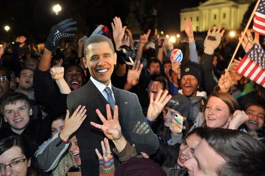华盛顿邮报/白宫外的庆祝活动持续升温