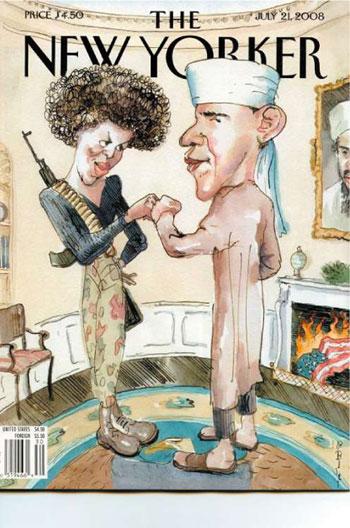 《纽约客》夫妇恶搞奥巴马漫画遭两党同声谴封面尊永恒图片