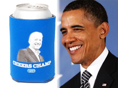 """奥巴马微博叫卖""""副总统杯套"""" 为竞选连任筹款造势"""