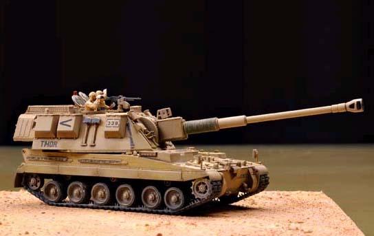 [英军图纸]:模型AS-90自行火炮新品与比例实际纸张图片