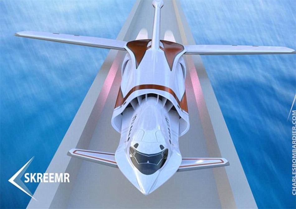 概念超音速飞机:伦敦到纽约只需半小时