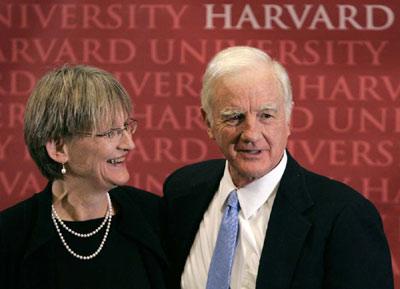 历史学家创造历史 哈佛大学迎来首位女校长图片