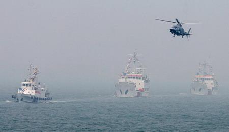 渤海海域溢油应急演习在秦皇岛举行