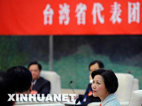 台湾省代表团审议两高报告[组图]