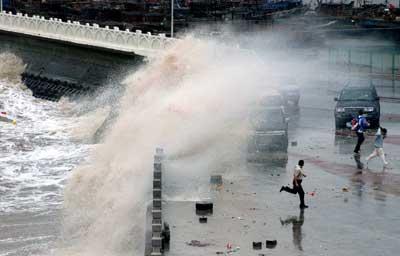 台风罗莎在浙江福建交界登陆
