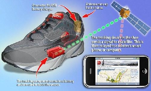 阿尔茨海默症患者福音 高科技GPS鞋防走失