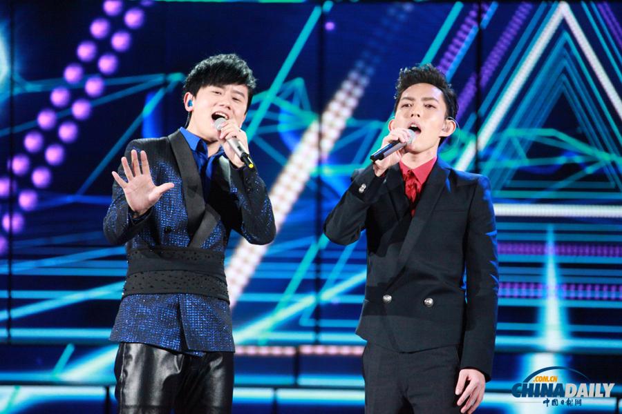 歌曲《给我你的爱》(表演者:张杰、林宥嘉)-高清彩排图 2013蛇年