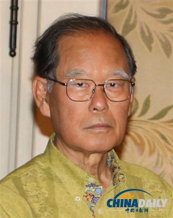 冲绳出身的日本国会议员照屋宽德(资料图片)