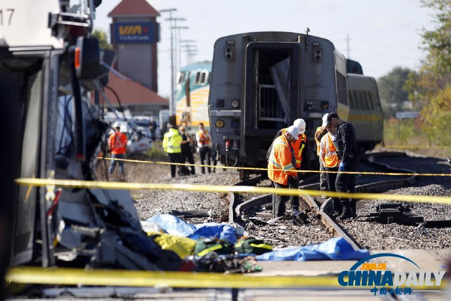 加拿大首都发生火车与巴士相撞事故 多人死亡图片