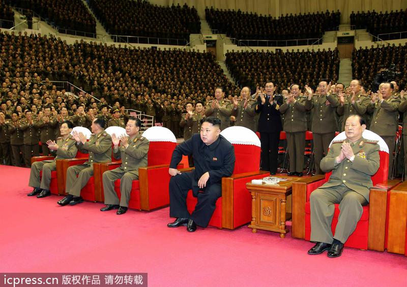 大会,朝鲜最高领导人金正恩出席并同与会者合影留念.随后,朝鲜图片