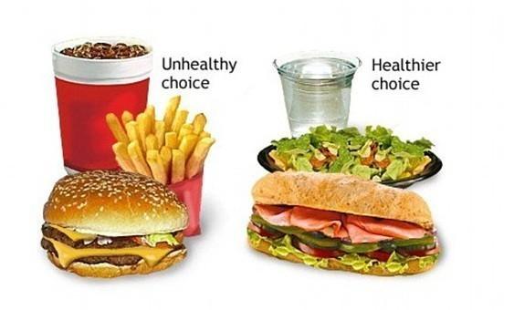 """麦当劳/麦当劳的招牌食品——汉堡包/薯条和碳酸饮料——被划为""""不健康..."""