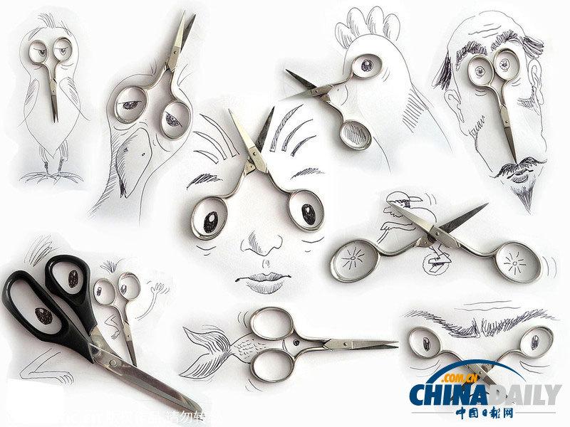 艺术创意画图片大全_巴西艺术家趣味铅笔画栩栩如生