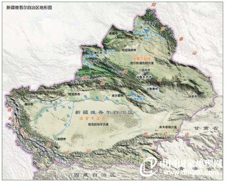 新疆维吾尔自治区地形图