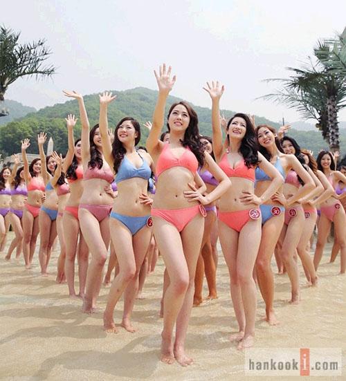 2013韩国小姐选美大赛幕后照曝光 佳丽泳装秀身材图片