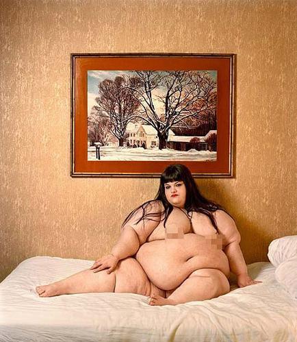 超级肥胖女人大胆拍写真