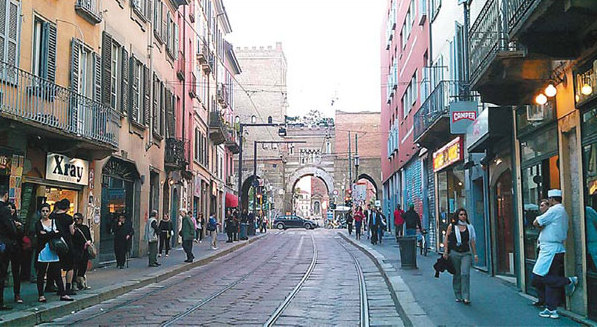 Corso Di Porta Ticinese Is A Shopping Street In Milan