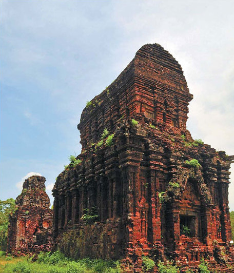 my son sanctuary in central vietnam features remains of tower temples ...