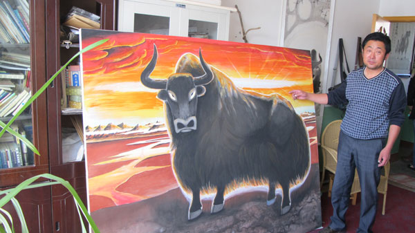 meng has been painting yaks for more than 10 years. Black Bedroom Furniture Sets. Home Design Ideas