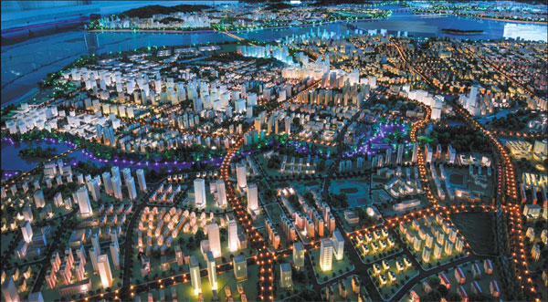 A Model Of The Xiamen Development Plan At The City S Urban
