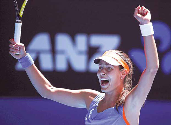 Ana Ivanovic Celebrates Defeating World No 1 Serena