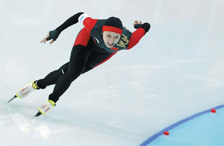 in the women s 1 000m speed skating competition in sochi on thursday