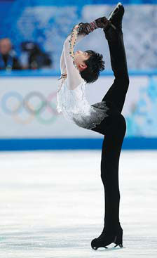 gold medalist yuzuru hanyu of japan competes at sochi s iceberg