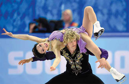 charlie white and meryl davis of the us compete in the ...