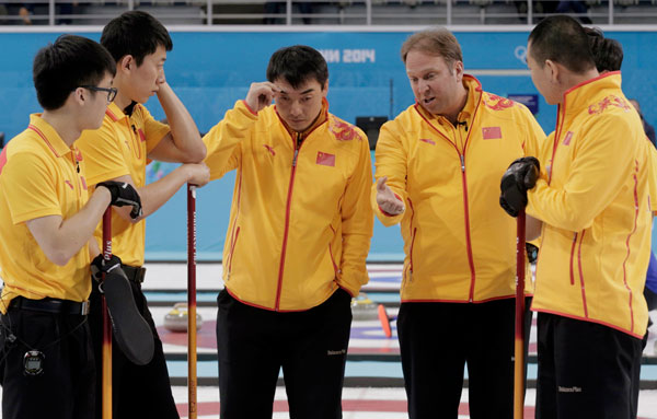 China S Coach Marcel Rocque Speaks To Lead Zang Jialiang