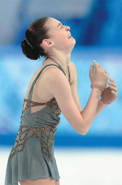 Adelina Sotnikova Reacts After The Women S Figure Skating