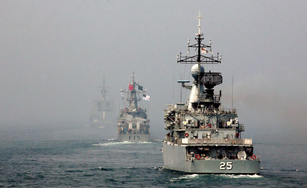 military ships from china and seven other countries take part