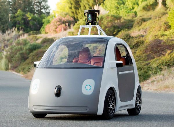 google s two seater auto pilot car does not have a