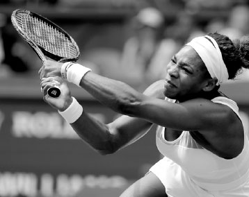 serena williams lunges to return to sabine lisicki during ...