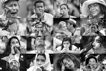 brazil supporters react emotionally while watching the ...