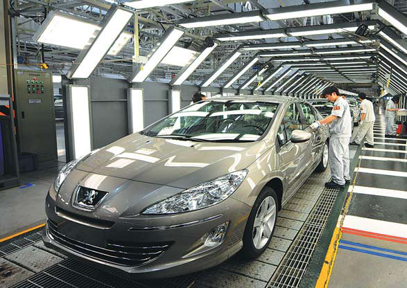 Concept Cars Shine At Auto China 2016 1 Chinadaily Com Cn: Workers At A Production Line For Dongfeng Peugeot Citroen