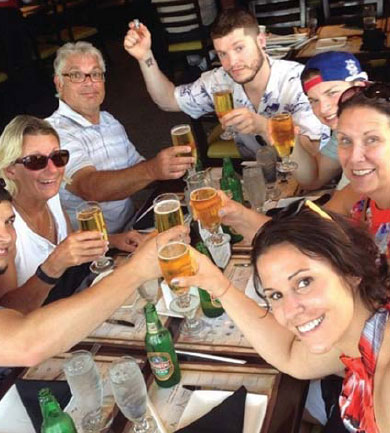 Foreign Tourists Enjoy Their Beer During The Qingdao