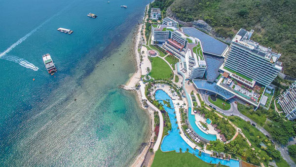 Sanya Marriott Hotel Dadonghai Bay Is Nestled Between The