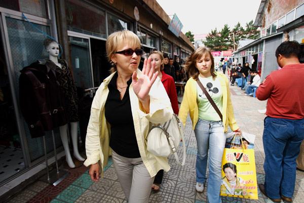 Russian Tourists And Traders Explore Fuyuan Heilongjiang