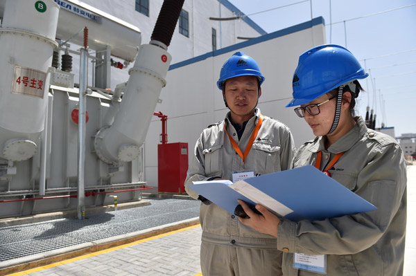shenhua group corp employees check facilities at a ...