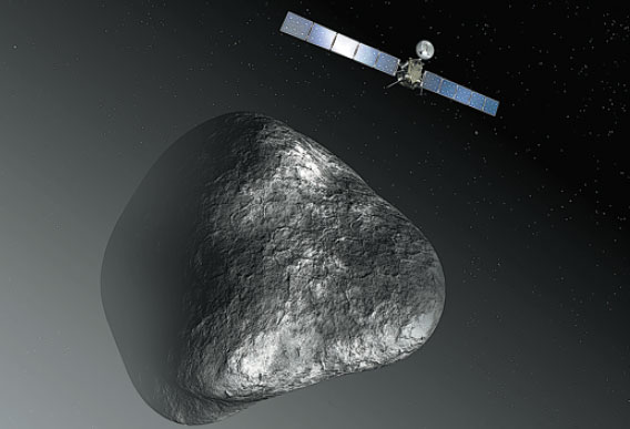 An Artist S Rendering Of The Rosetta Spacecraft At Comet