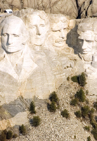 The Mount Rushmore National Memorial Is In The Black Hills