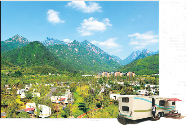 Part Of The Huangshan Tuju Campsite Has 201 Caravans