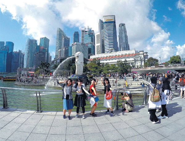 The Merlion Is Singapore S Landmark Statue Of A Half Lion