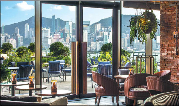 Kerry Hotel Hong Kong Is Elevated Above The Waterfront