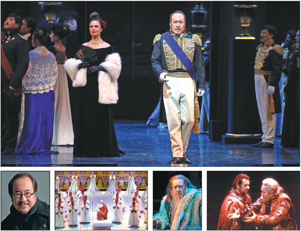 Clockwise From Top Tian Haojiang In Onegin In Le Cid In