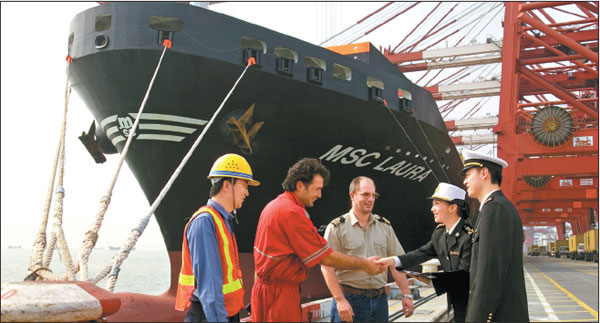 Staff Members Of A Foreign Shipping Company Are Satisfied